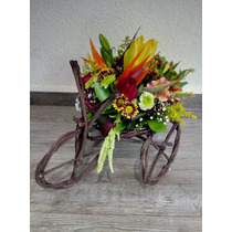 Centro Mesa Flores Naturales Eventos Bodas Xv Años En