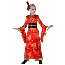 Disfraz Oriental Kimono Geisha Japon China Para Niñas