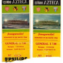 Boletos De La Inaguracion Del Estadio Azteca Remato