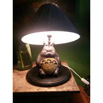 Lámpara De Totoro, Hecha Y Pintada A Mano