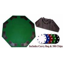 Mesa Para Juego De Poker Fichas Baraja Bolsa Transporte