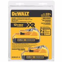 Set De Baterias Dewalt Dcb127-2 2.0 A Litio 12v Env. Gratis