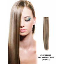 Ab Extension Cabello 100% Natural Cortina Rubias 45cm F6/613