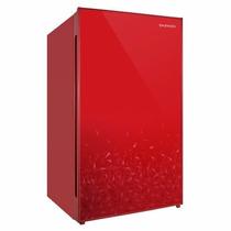 Frigobar 4p (113dm3) Daewoo. Rojo Acabado Espejo. Fr-15d