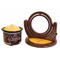 Maquina Para Hacer Figuras De Chocolate Moldes Y Olla Fundir