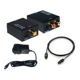 Convertidor Audio Digital Óptico A Rca Y Coaxial + Cable 1.8