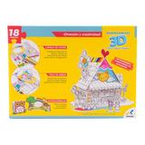 Rompecabezas 3d Para Colorear Casa De Juguetes Jca-2441