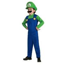 Super Mario Brothers Luigi Traje Niño