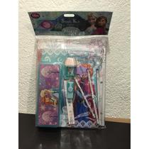 Frozen Estuche Con Cuaderno Y Más Disney Store Original
