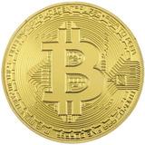 Bitcoin Moneda Btc Color Oro Con Capsula De Acrílico!