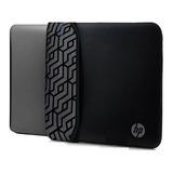 Funda Hp Neopreno Para Laptop 14'' Reversible Negro/gris
