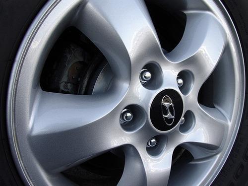 4x Centro Tapón De Rin Hyundai 60mm Negro  - Envío Gratis Foto 4