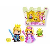Pinypon Principe Y Princesa Con Rana Con Corona