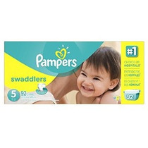 Pampers Pañales Swaddlers Tamaño 5 Paquete Gigante 92 Contad