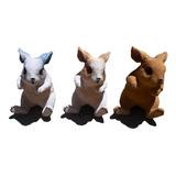 Adorno Jardín Figuras De Resina Conejo Color A Elegir