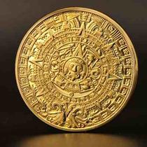 Moneda Calendario Azteca Bañada En Oro De Colección Envgrat