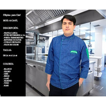Filipina Para Chef Mezclilla Caballero Uniformes