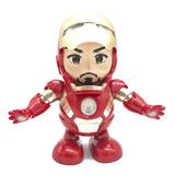 Robot Bailarín Iron Man, Juguete Electrónico Con Luz Led