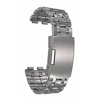 Extensible Pebble Acero Inoxidable Correa De Reloj De Metal