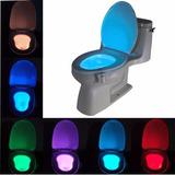 Luz Led Con Sensor De Movimiento Para Taza De Baño 8 Colores