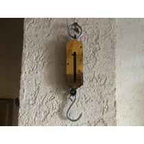 Antiguo Dinamometro Aleman Laton Vintage Balanza De Colgar
