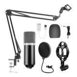 Kit Micrófono Condensador Nexwills Bm-700 Reducción De Ruido