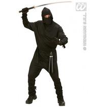Ninja Costume - Adultos Hombres Pequeño Negro Guerrero De F