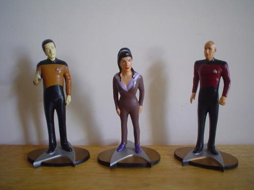 7 Figuras Vintage 1992 De Star Trek Miden 10 Cms 50.00 C/u