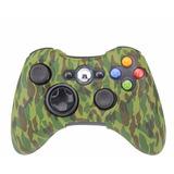 Funda Silicon Control Xbox 360 Camuflaje Verde