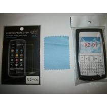 Kit 3x1 Silicon+ Mica+ Paño Nokia X2-01!!!