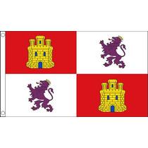 Bandera Española - Castilla Y León España 5ftx 3ft Con El