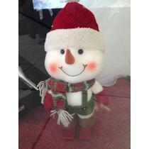 Navidad Figuras Decorativa Snowman Muñeco De Nieve Skis