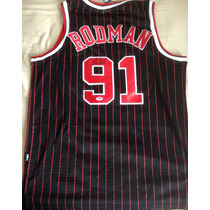 Jersey Dennis Rodman Autografiado Micheal Jordan Nike Bulls