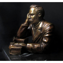 Friedrich Nietzsche Escultura En Bronce Única En El Mundo