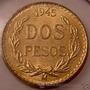 Moneda De Oro Centenario Mexico 2 Pesos Oro A�o 1945