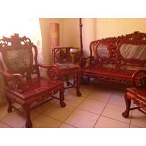 Sala China Dragones De Caoba Y Marmol