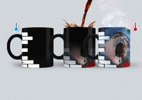Taza Mágica Pink Floyd - The Wall f86b349078a