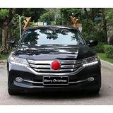 Disfraz De Reno Navidad Cuernos, Nariz Roja Para Auto