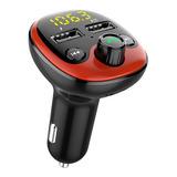 Transmisor Bluetooth Fm Auto Manos Libres Cargador 2 Usb