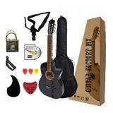 Guitarra Acústica Curva De Paracho Paquete Con Accesorios