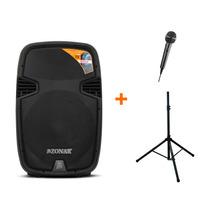 Bafle Amplificado Profesional 15 Pulg Bluetooth Mp3 Usb Sd