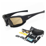 Lentes Tácticos Goggles Militar Motociclismo  X7 4micas