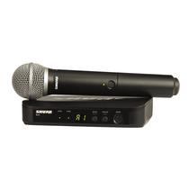 Sistema Inalambrico Shure Blx24/pg58 Con Microfono Nuevo