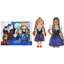 Preciosa Muñeca Anna Frozen Con Vestido Para Tu Nena