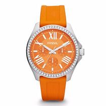 Reloj Fossil Am4491 Silicon - Fechador - Wr 100m - Cfmx