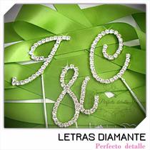 Iniciales Letras Diamante Para Decoracion De Pastel