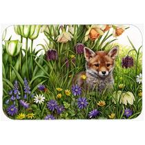 Fox Abril Por Debbie Cook, Vidrio Tabla De Cortar Grande Cdc