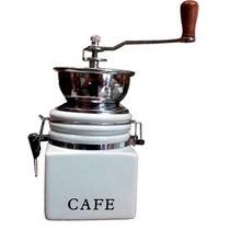 Molino De Café Manual Cerámica Blanco *