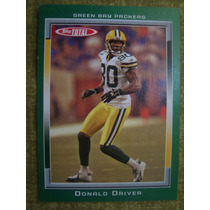 Donald Driver Green Bay Packers Card Topps Total 2006
