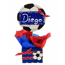 Dulcero Bautizo Cumpleaños Presentación Balón Futbol Foamy
